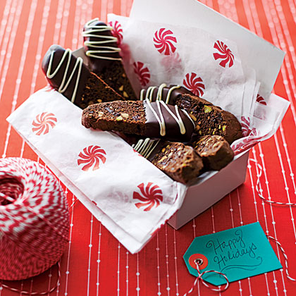 Chocolate-Pistachio-Cherry Biscotti