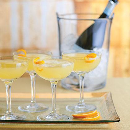Fresh Orange, Rosemary, and Sage Sparkling Wine Cocktail