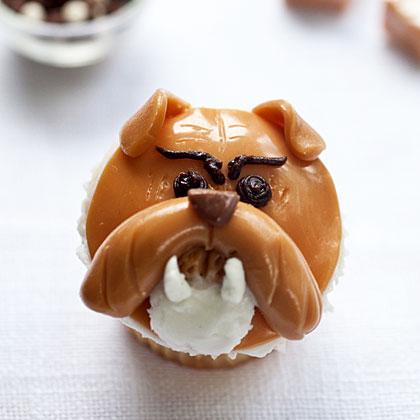 Bulldog Cupcakes