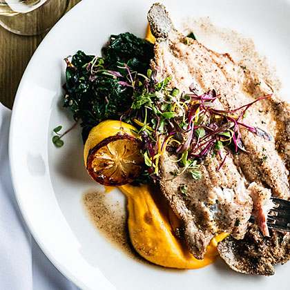 Trout with Root Mash