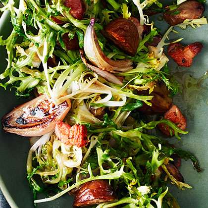 Wilted Frisée with Pancetta and Chestnuts