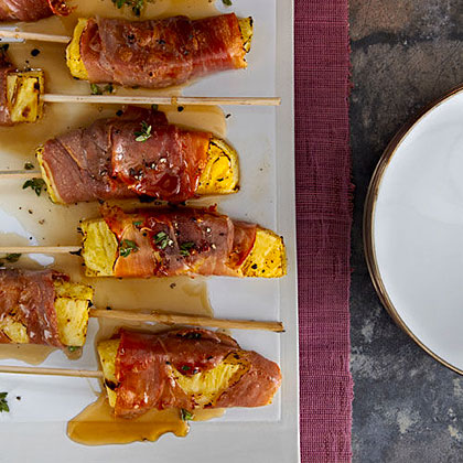 Prosciutto-Wrapped Pineapple Kebabs