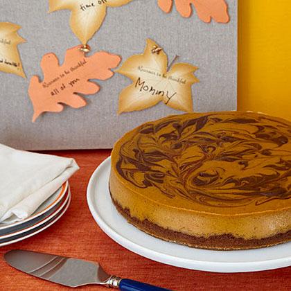 Pumpkin-Chocolate-Swirl Cheesecake