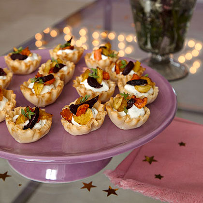 Roasted Vegetable-Goat Cheese Tarts Recipe
