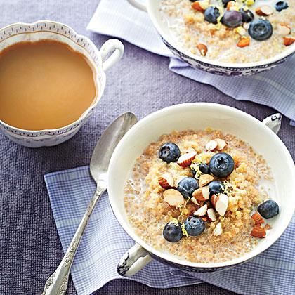 Lemon-Blueberry Quinoa Porridge Recipe