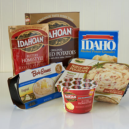 Options for Mashed Potatoes