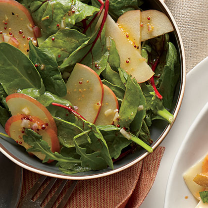 Apple Salad with Mustard Dressing