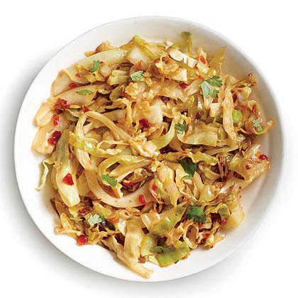 Chile-Garlic Cabbage Recipe