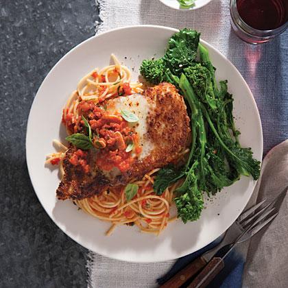 Chicken Parmesan With Spaghetti Recipe Myrecipes