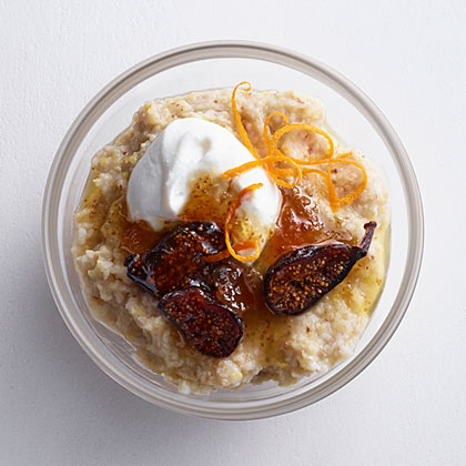 Creamy 7-Grain with Goat Cheese, Yogurt, and Fig Recipe