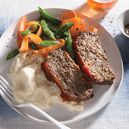 Cremini Mushroom Meat Loaf RecipeMushrooms replace half the beef in our Cremini Mushroom Meat Loaf. Not only do the mushrooms slash calories, they also add deep, earthy flavor while keeping the meat loaf moist. If you follow a gluten-free diet, simply use gluten-free panko breadcrumbs in place of traditional panko breadcrumbs.