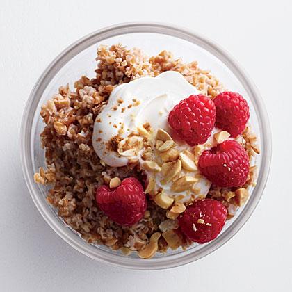 Crunchy Peanut Butter Bulgur with Berries