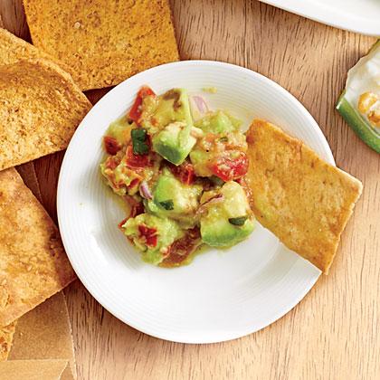 Salsa Guac and Pita Chips