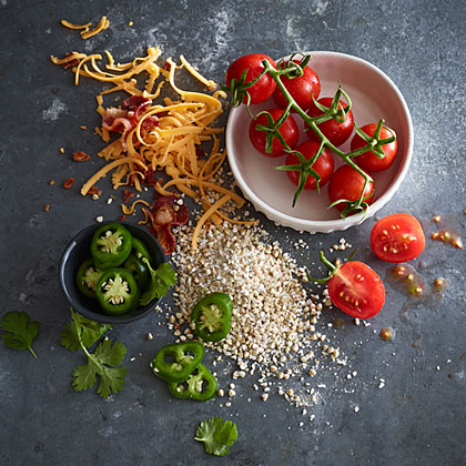 Savory Buckwheat with Tomato, Cheddar, and BaconRecipe