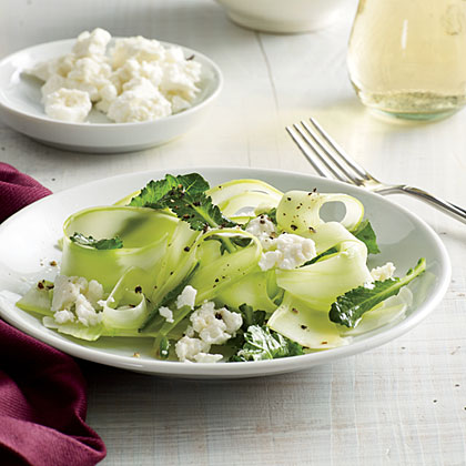 Shaved Broccoli Stalk Salad with Lime Recipe