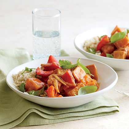 Winter Squash and Tofu Panang Curry