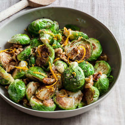 Sauteed Brussels Sprouts With Orange and Walnuts Recipe