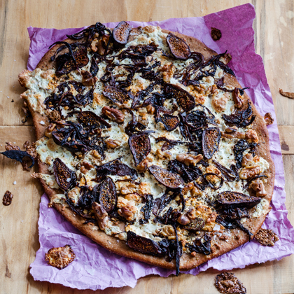 Caramelized Red Onion and Fig Pizza