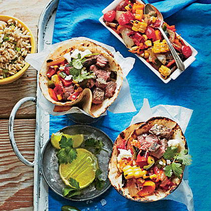 Steak Tacos with Charred Salsa Recipe