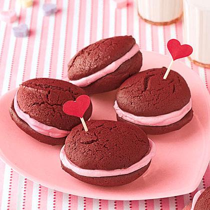 Mini Red Velvet Whoopie Pies