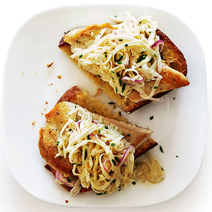 Open-Face Chicken Sandwiches with Celery Root Salad Recipe