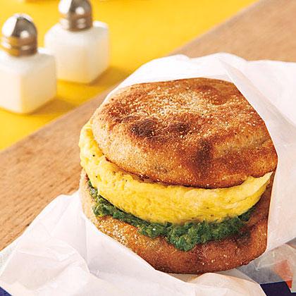 Pesto Egg Sandwich