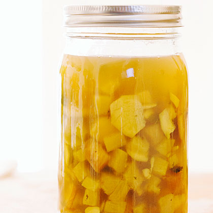 Pineapple Ginger Mint Shrub