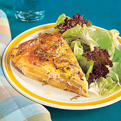 Potato, Leek and Turkey Frittata