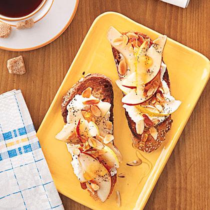 Ricotta, Pear and Almond Toast