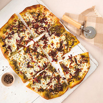 Sun-Dried Tomato and Pesto Pizza Recipe