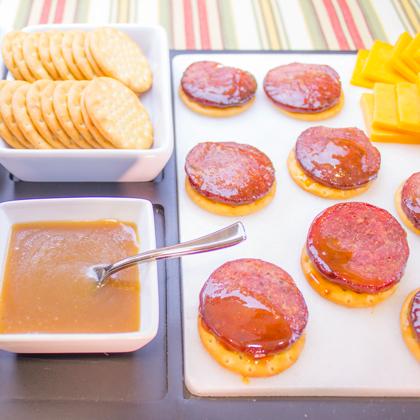 Honey Dijon Glazed Summer Sausage