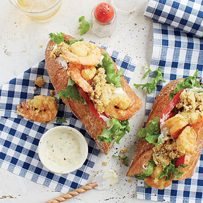 Oyster-and-Shrimp Po' Boys