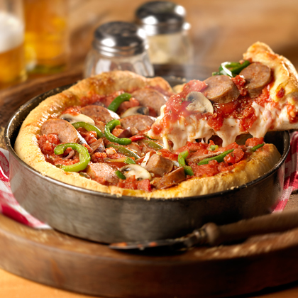 Johnsonville makes it easy to make your own authentic deep dish pizza with this fantastic recipe! If you're looking for a pizza pie feast, this dish is packed with mushrooms, green peppers, black olives and delicious mounds of mozzarella, Parmesan and provolone cheese. Add in your favorite Johnsonville Italian Sausage for that extra layer of goodness, and you're good to go!