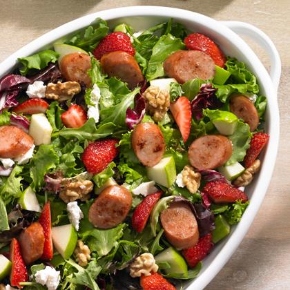 Johnsonville® Strawberry and Apple Chicken Sausage Salad Recipe