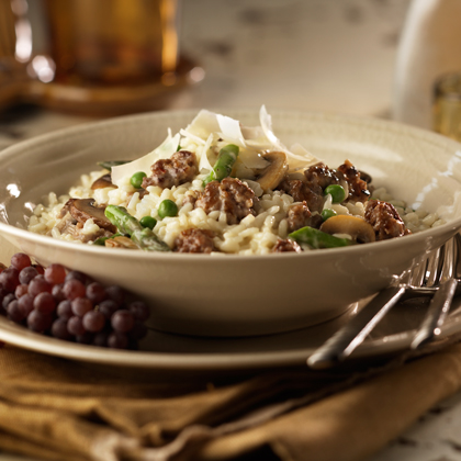Sausage & Vegetable Risotto Recipe