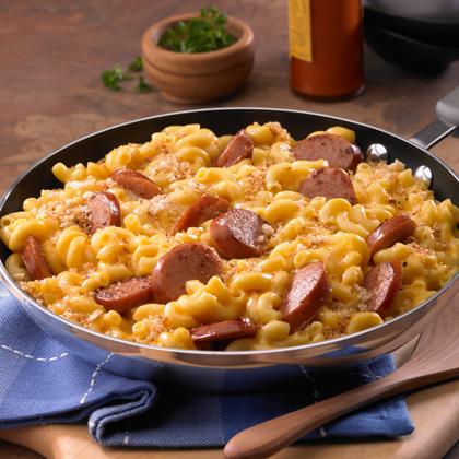 Johnsonville Skillet Mac & Cheese & KielbasaRecipe