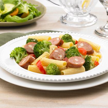 Johnsonville Smoked Chicken Italian Sausage and Broccoli RigatoniRecipe