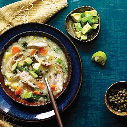 Potato, Corn, and Chicken Stew (Ajiaco)