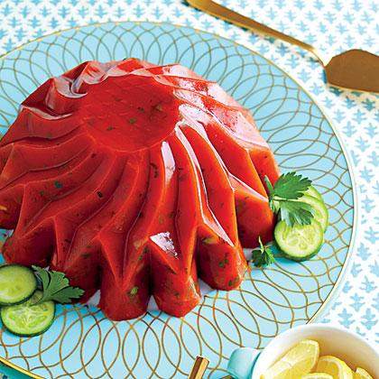 Cucumber-Tomato Aspic