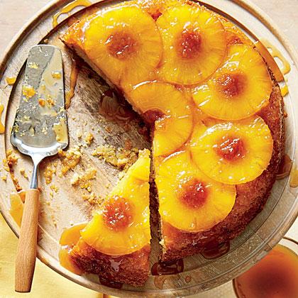Honey-Pineapple Upside-Down Cake