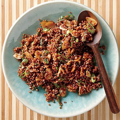 Nutty Almond-Sesame Red Quinoa