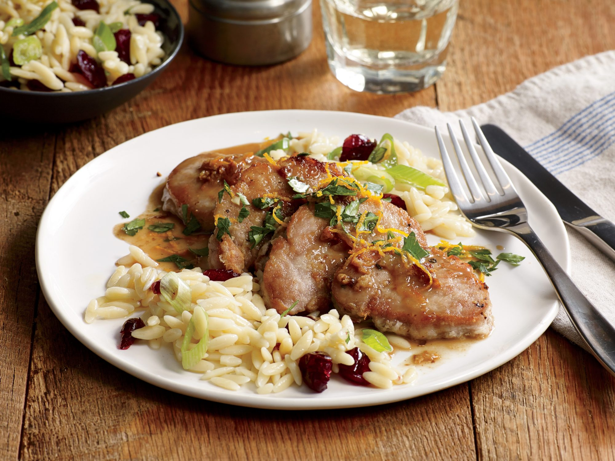 Pork Cutlets with Orange Gremolata