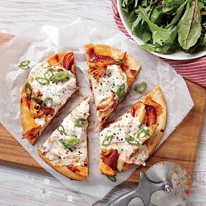 Quick BBQ Chicken PizzasRecipe