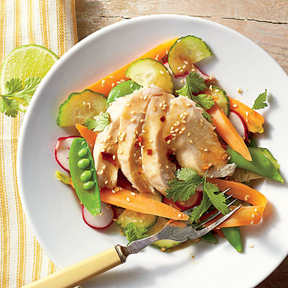 Sesame Chicken Garden Salad