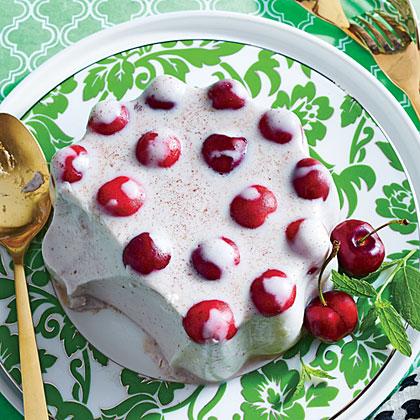 Spiced Coconut-Cherry Mold