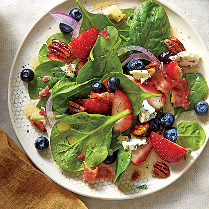 Spinach Salad with Honey Dressing and Honeyed Pecans Recipe