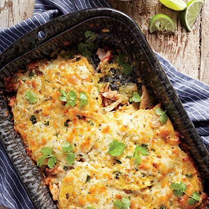 Stacked Chicken Enchiladas Recipe