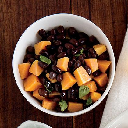 Warm Sweet Potato and Black Bean Salad