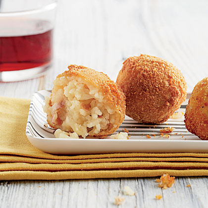 Prosciuto-and Provolone-stuffed Arancini