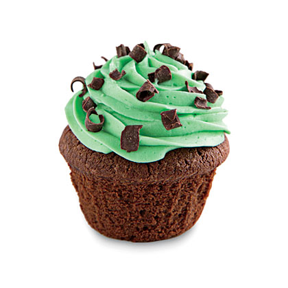 St. Patrick's Day Crème de Menthe CupcakesRecipe
